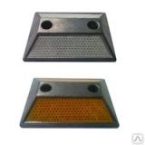 Светоотражатель дорожный анкерный ГОСТ 50971-2011 Крепление в комплекте (анкер-шпильки и заглушки) КД-3 алюминиевый