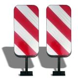 Светоотражатель дорожный пластик, тип В, двухсторонний, с крепежом (к НьюДжерси, тросовому ограждению. ФБС, Волна, Водоналивной блок) ГОСТ Р 50971-2011 КД-6 двухсторонний