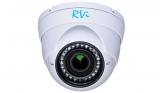 Купольная антивандальная HD-CVI видеокамера с ИК подсветкой 720P RVi-HDC311VB-C (2.7-12 мм)
