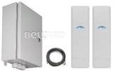 Комплект для передачи видео с подключением до 7 IP-камер или видеосерверов, до 4 км Beward BR-025-8