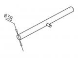 Поручень ограждения d = 38 мм, нержавеющая сталь, длина 500 мм. OMA-01.306