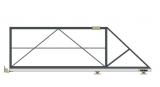 Откатные консольные ворота (без окрашивания и без обшивки), проем 3500х1800 мм STILTOR серии ПРОФ 0-Т ЭКО