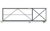 Откатные консольные ворота (без окрашивания и без обшивки), проем 3500х1800 мм STILTOR серии ПРОФ 0-К