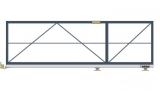 Откатные консольные ворота (без окрашивания и без обшивки), проем 3500х1800 мм STILTOR серии ПРОФ 0