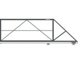Откатные консольные ворота (с окрашиванием и без обшивки), проем 3500х1800 мм STILTOR серии ПРОФ 0-Т ЭКО (окраш)