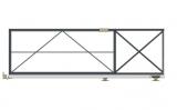 Откатные консольные ворота (с окрашиванием и без обшивки), проем 3500х1800 мм STILTOR серии ПРОФ 0-К (окраш)