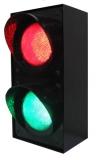 Светофор 2-х секционный светодиодный 100мм (зеленый, красный 220- 12- 24В) ДИАК ССДЗ-КЗ (Т8.3, ССД100)