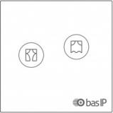 Умный выключатель управления шторами на 1 канал BAS-IP SH-78