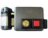 Тип 2. Замок электромеханический, накладной, внутренний цилиндр, кнопка на выход ISEO 5213-20