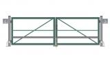 Распашные ворота (без обшивки, окрашенные, с упаковкой) STILTOR cерия ПРОФ 0 (3000х1800 мм,окраш)