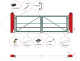 Распашные ворота (без обшивки, окрашенные,с упаковкой) STILTOR cерия ПРОФ 0 (4000х2000 мм, окраш)