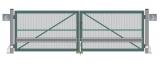 Распашные ворота (с обшивкой с 1-й стороны, окрашенные, с упаковкой) STILTOR cерия ПРОФ 1 (4000х2000 мм, окраш)