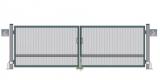 Распашные ворота (с обшивкой с 2-х сторон, без окрашивания, без упаковки) STILTOR cерия ПРОФ 2 (4000х2000 мм)