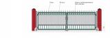 Распашные ворота (с обшивкой из профильной трубы ,без окрашивания, без упаковки) STILTOR cерия МЕТ (4000х2000 мм)